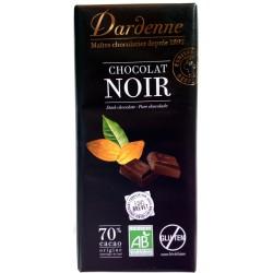 Tablette chocolat noir 70 % cacao 100 gr