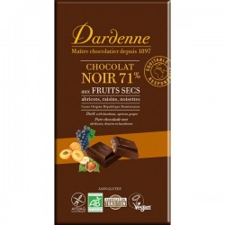 Tablette chocolat noir fruits secs 180 g