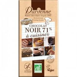 Tablette chocolat noir cuisine 71% 200g