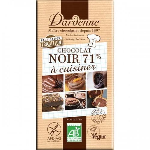 TABLETTE CHOCOLAT NOIR 71% PATISSER200g
