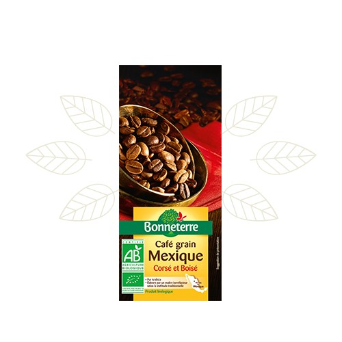 CAFE MEXIQUE grains PUR ARABICA  250g