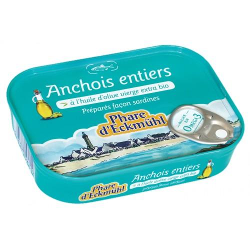 ANCHOIS ENTIER HUILE OLIVE 115g