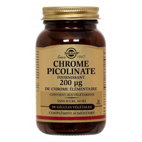 CHROME PICOLINATE 200µg 90 gélules