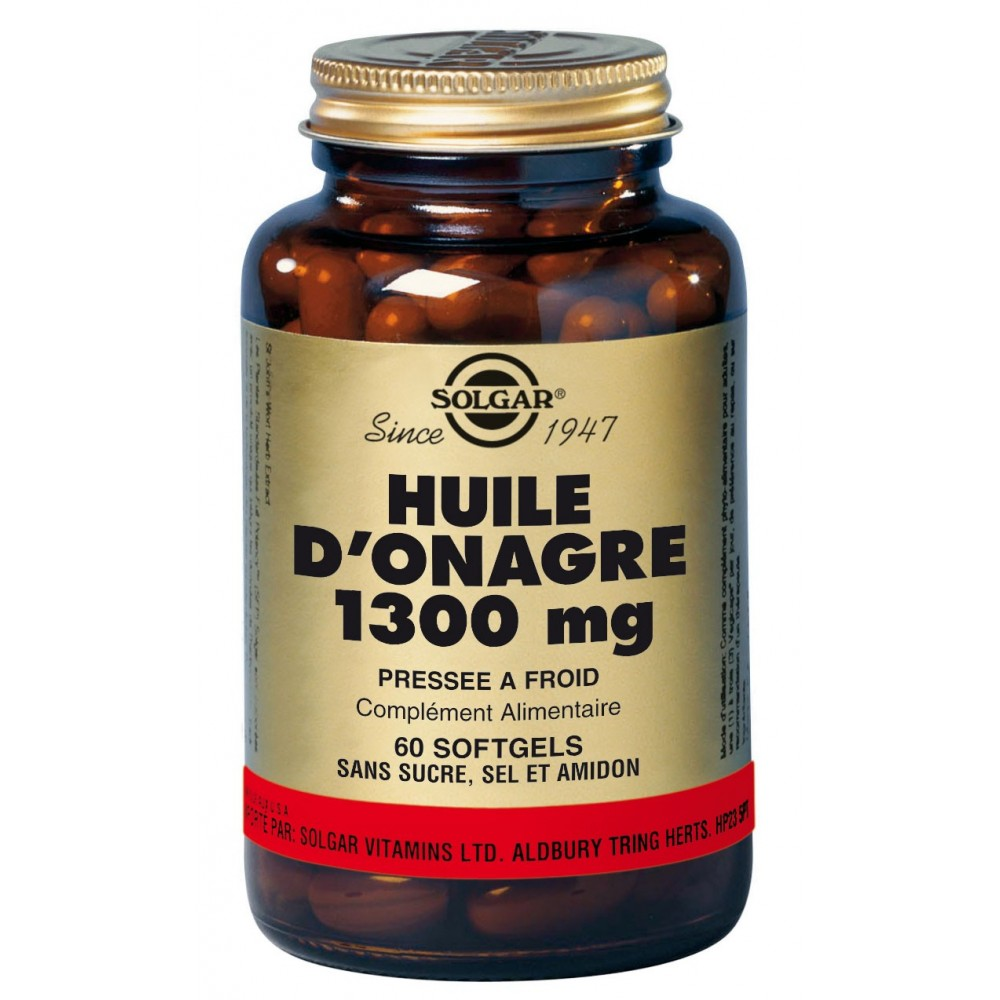 HUILE ONAGRE 1300 mg 60 Softgels - To Be