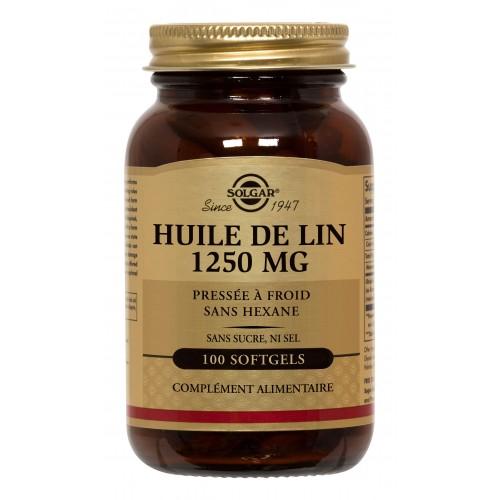 HUILE de LIN  1250 mg    100 softgels