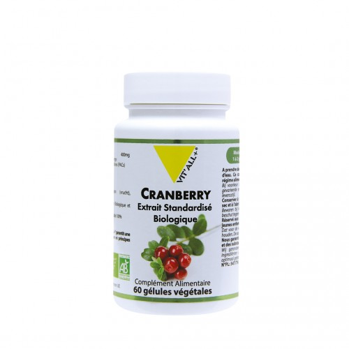 CRANBERRY CANNEBERGE 400mg 60gél.vég.
