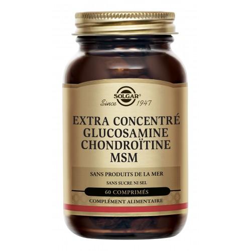 SOLGAR GLUCOSAMINE CHONDROITINE MSM 60 COMPRIMES