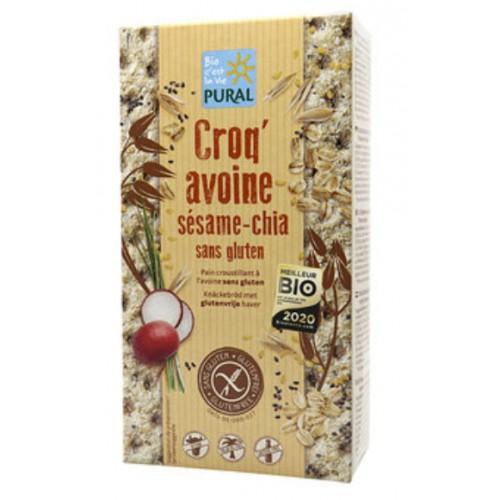 CROQ'AVOINE SESAME CHIA sans gluten 160g