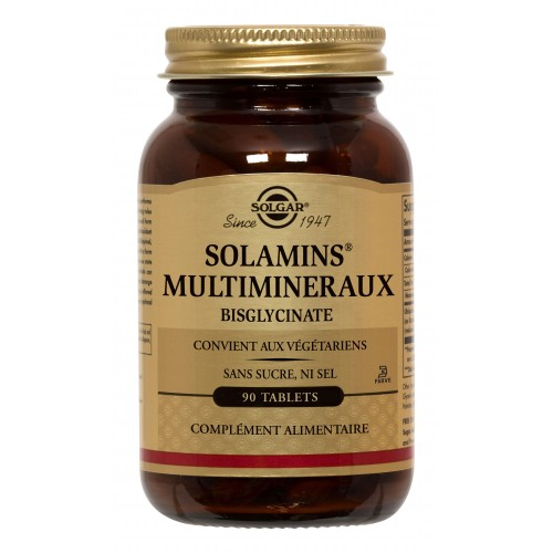 SOLAMINS® MULTIMINERAUX CHELATES 90 tabl