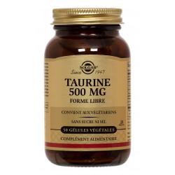 Taurine 500 mg 50 Gélules Végétales