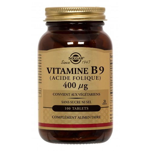 VITAMINE B9 (ACIDE FOLIQUE)400µg tablet