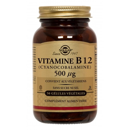 B12 CYANO COBALAMINE 500µg 50gélules