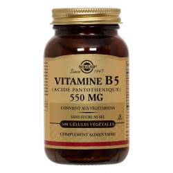 Vitamine B5 (Acide Pantothénique) 550 mg