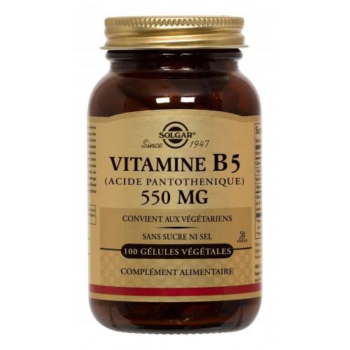 VITAMINE B5 (ACIDE PANTOTHENIQUE) 550 mg