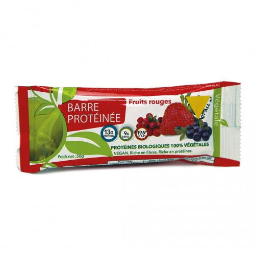 VIT'ALL+ BARRE PROTEINEE FRUITS ROUGES 50 G