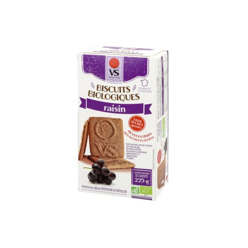 BISCUITS RAISIN ss sucre ss sel 225g