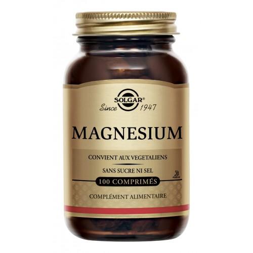 SOLGAR MAGNESIUM 100 COMPRIMES