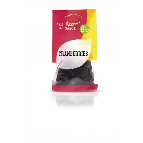 CRANBERRIES AU SUCRE DE CANNE 125g