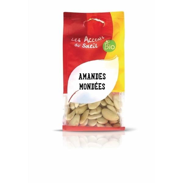 Amandes blanches mondées Espagne 125 gr