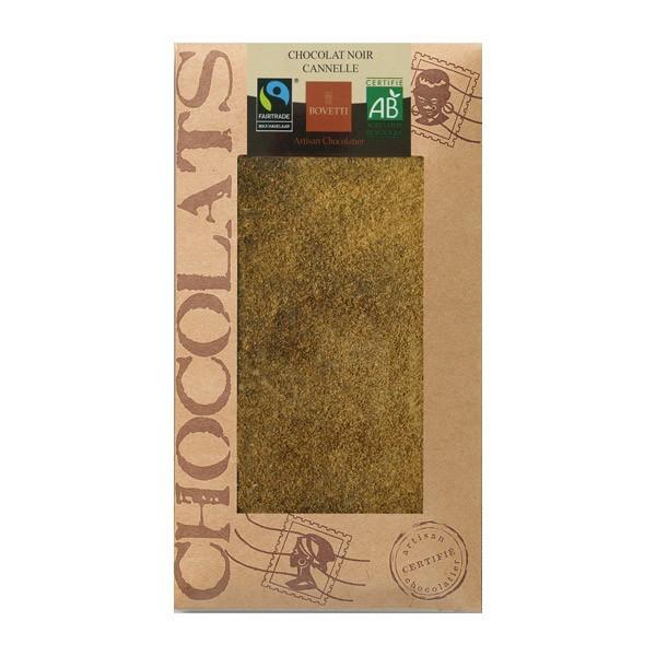 TABLETTE CHOCOLAT NOIR 73%/ CANNELLE 0,1