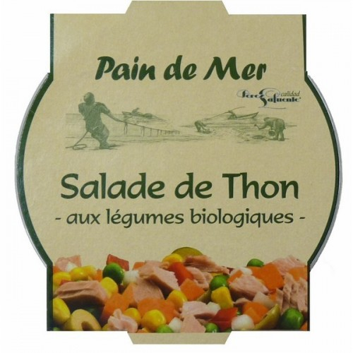 SALADE THON LEGUMES BIOLOGIQUES 250g