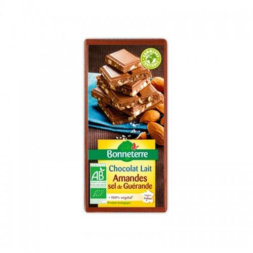 CHOCOLAT LAIT AMANDES SEL GUERANDE 100g