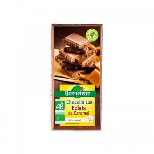 CHOCOLAT LAIT ECLATS DE CARAMEL 100g