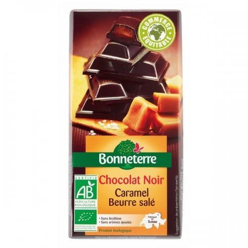 CHOCOLAT NOIR CARAMEL BEURRE SALE 100g
